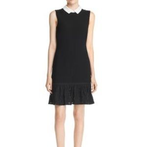 Karl Lagerfeld Embroidered Layer Dress Black Sz 8